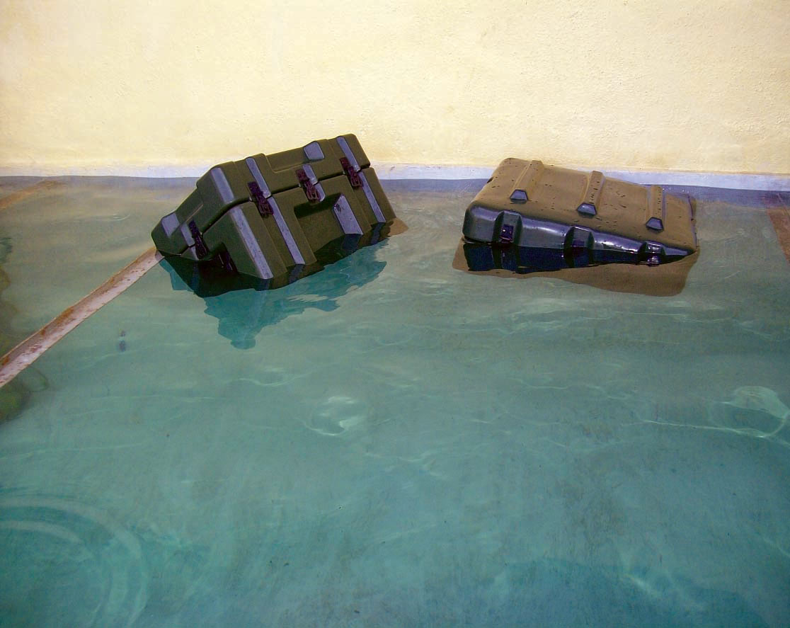 Water Buoyancy Test - Military Transit Cases in India