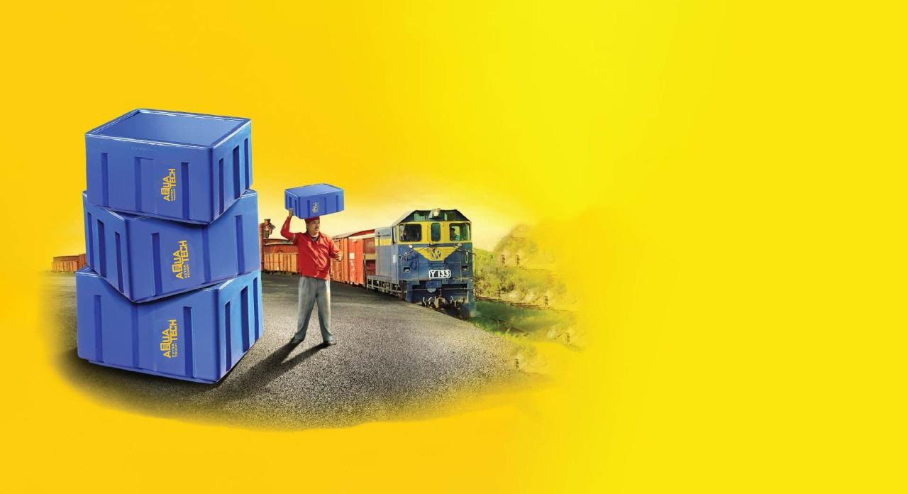 Plastic Custom Crates Manufacturers - Aquatech