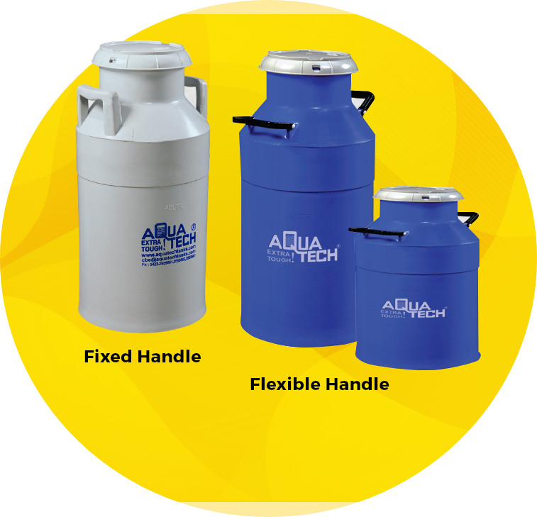 Fixed steel handle milk storage can wholesale suppliers in Coimbatore, India